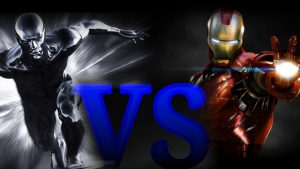 silver surfer and iron man