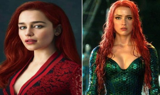 Is Emilia Clarke Replacing Amber Heard