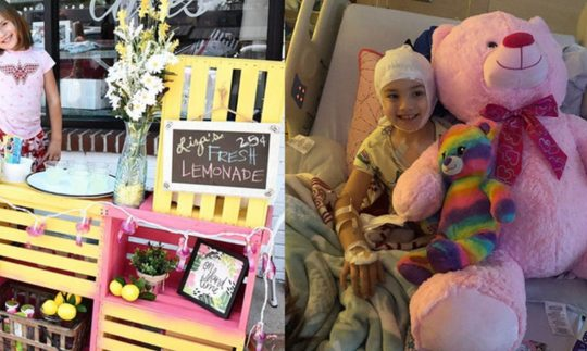 Liza Scott: 7-year-old girl sells lemonade to pay for her brian surgery