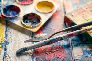 paint brush with colors