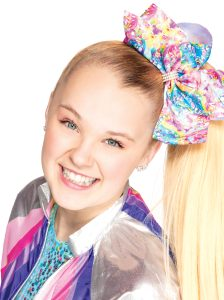 blonde girl with ponytail smiling